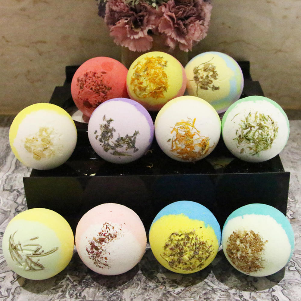 1PC 100g Bath Ball Natural Salt Body Skin Care Bubble Bombs Skin Exfoliating Hot