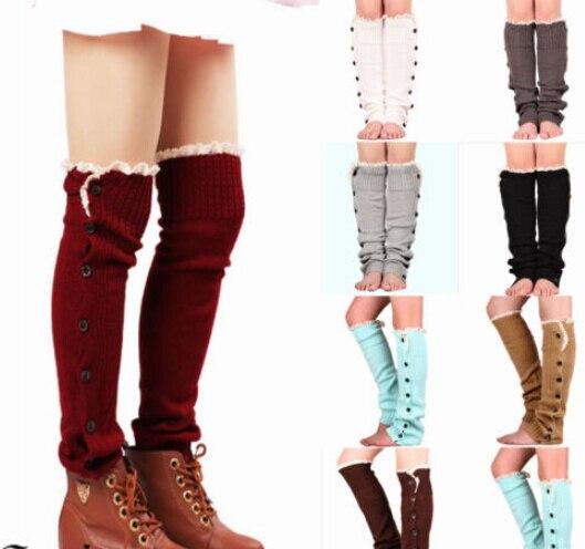 Verenigd 2019 Hot Womens Winter Fashion Lange Gebreide Sokken Beenwarmers Warme Zachte Wol Kant Gebreide Twist Boot Cover Sokken Toppers Manchetten Talrijke In Verscheidenheid