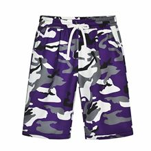 Womens Holiday Beach Camouflage Shorts Plus Size Ladies Linen Summer Casual Female Camo Short Trousers