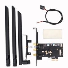 BCM94360CSAX/BCM943602CS/BCM94331csax WLAN بطاقة إلى PCI e 1x 16x حاسوب شخصي مكتبي واي فاي WLAN بطاقة محول ()