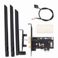 Bcm94360csax/bcm943602cs/bcm94331csax wlan cartão para pci-e 1x 16x desktop pc wifi adaptador de cartão wlan ()