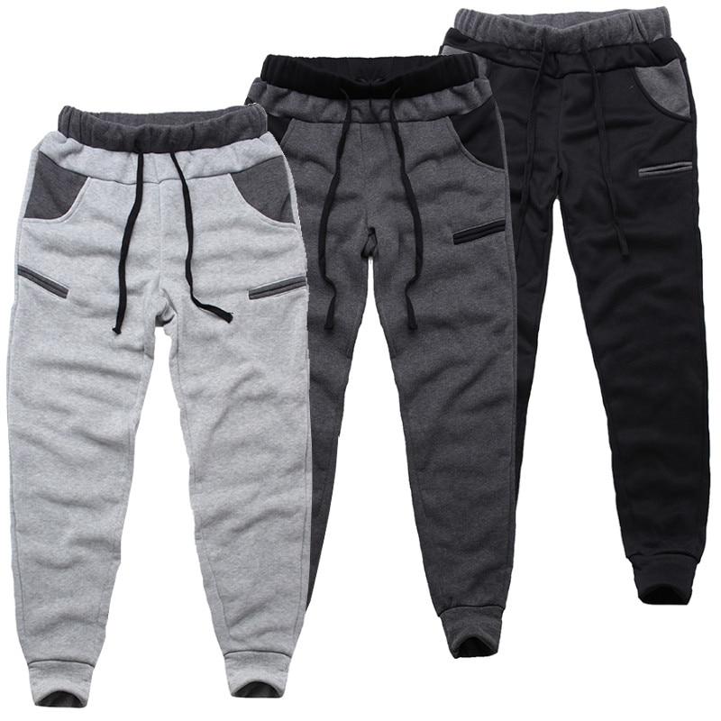 INCERUN Winter Men Harem Pants Fleece Warm Joggers Elastic Waist Trousers Men Casual Baggy Workout Tracksuit Sweatpants 2019