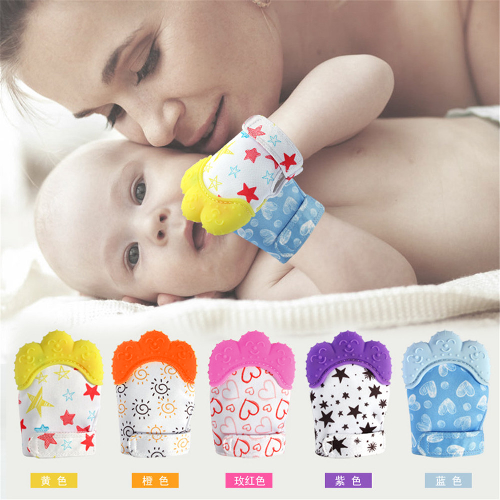 2019 Hot Sale Toddler Toys 1pcs Food Grade Silicone Teethers Infant Teething Gloves Anti-bite Hand New-arrival Baby Molar Gloves