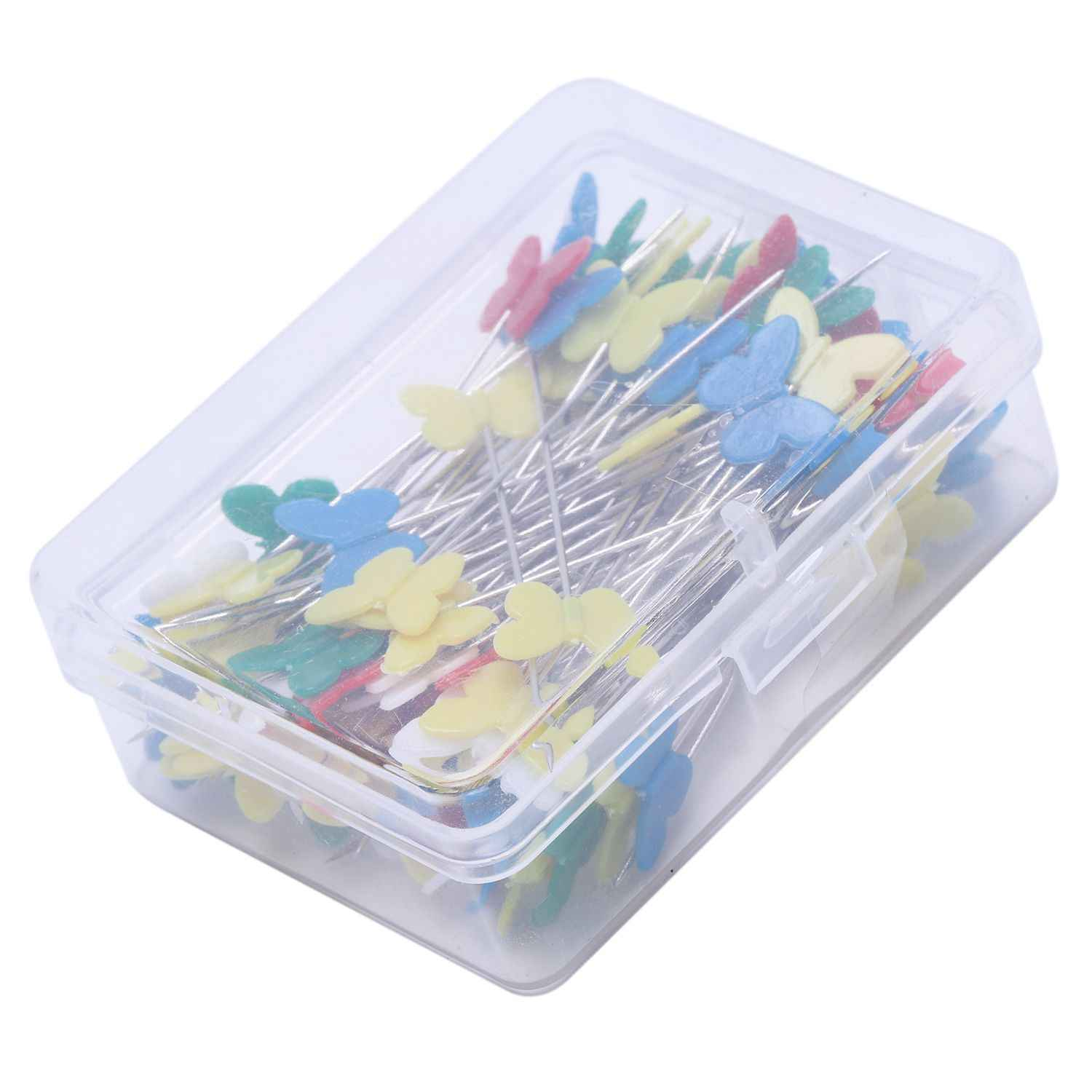 100pcs/set Patchwork Pins Flower Button Head Pins DIY Quilting Tool Sewing Accessories Sewing Patchwork Pins butterfly