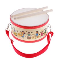 Hand Drum Percussion Musical Instrument Sensory Development Early Learning Educational Toys Gift for Children Toddler Kids цена в Москве и Питере