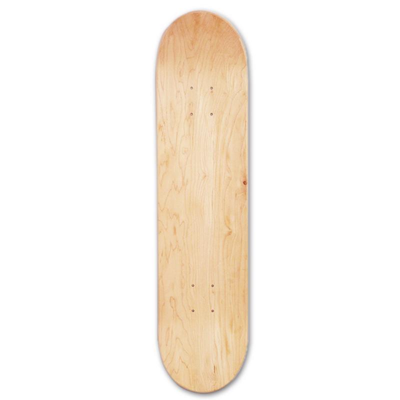 Polegada 8 8-Camada de Bordo Skates Em Branco Duplo Côncavo Placa Skate Deck Skates Maple de Madeira Natural