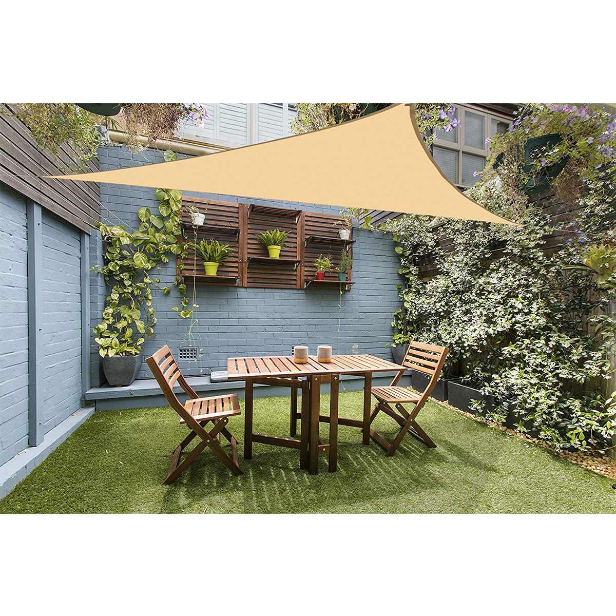 Beige destra triangolo 3x3x4.3 4x4x5.7 3x4x5 vela ombra casa patio esterno impermeabile e protezione dalle radiazioniBeige destra triangolo 3x3x4.3 4x4x5.7 3x4x5 vela ombra casa patio esterno impermeabile e protezione dalle radiazioni