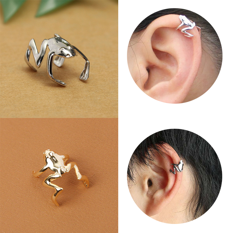 2019 New Ear Clips Trend Jewelry Fashion Animals Frog Stud Wrap <font><b>Earring</b></font> Design Women <font><b>Men</b></font> Children Gothic Best Selling Punk image