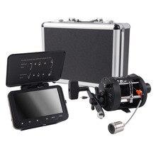 """SYANSPAN подводный рыболокатор видео камера для рыбалки 4,"""" ЖК-монитор HD 1000TVL катушка для рыболокатора с колесом для переноски Чехол IP68"""