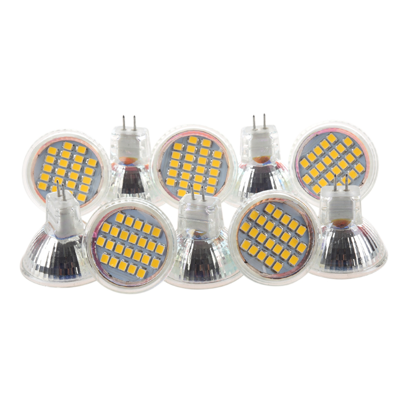 10pcs MR11 GU4 Warm White 3528 SMD 24 LED Home Spotlight Light Lamp Bulb 1W 12V