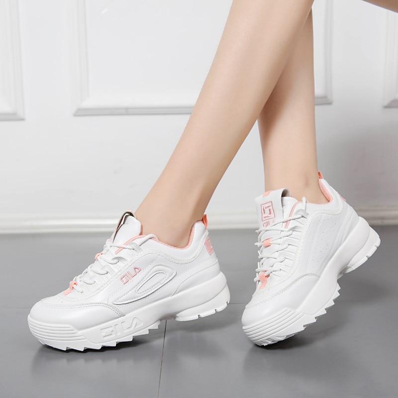 Fashion Women Platform Sneakers Winter White Women Sneakers Lace up Waterproof Women sneakers Brand Retro Chaussures femme sneakers