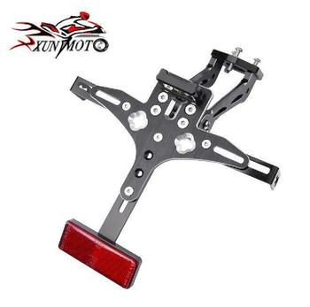 Motorcycle Parts Frame Rear Adjustable License Plate Mount Holder Bracket Lamp For KAWASAKI 2009-2016 ZX6R 2008 2009 2010 ZX10R