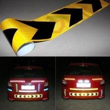 Car Sticker 5CM X 45M Arrow Conspicuity Tape Reflective Hazard Tape For Car Truck RV Fluorescent Arrow Types Tape