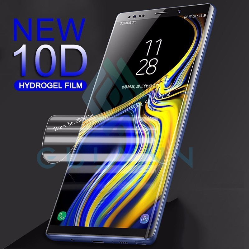 10D Soft Full Cover Hydrogel Film For Samsung A8s A9s A6s A3 A5 A7 2017 Screen Protector For J 3 4 6 A 6 A8 Plus S10 Not Glass in Phone Screen Protectors from Cellphones Telecommunications