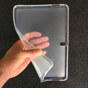 SM-P600 מקרה לסמסונג גלקסי הערה 10.1 2014 מהדורת P601 שקוף רך TPU כיסוי עבור Samsung SM-P601 SM-P605 מקרי לוח