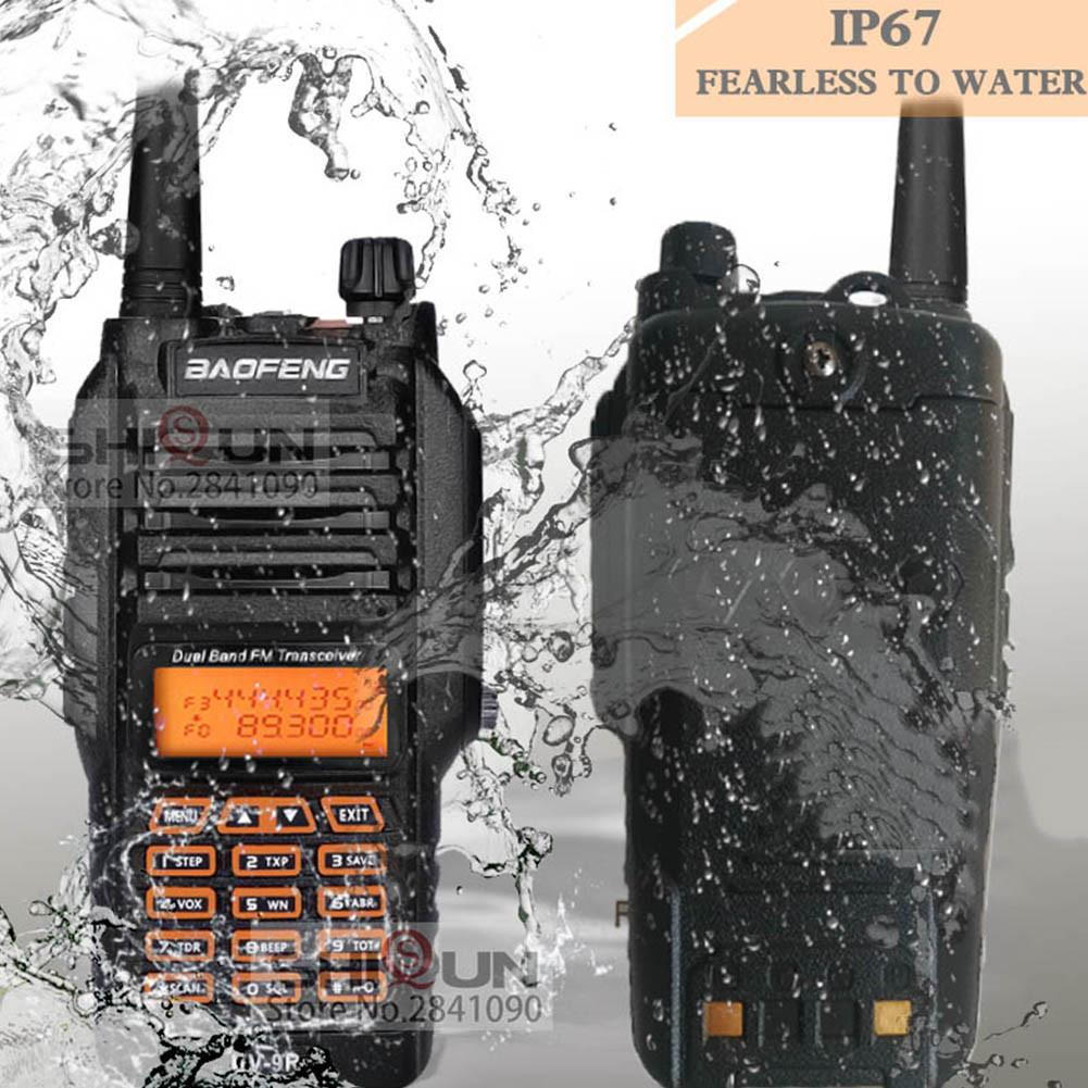 100% Original Baofeng UV-9R IP67 8 W longue portée talkie-walkie 10 km radioamateur double bande UV9R Portable CB Radio communicateur