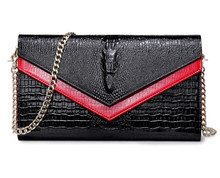 Women Crocodile Crossbody Bag Chain Mini Shoulder Bag Chain Small Messenger Bag Womens Handbags Purses Evening Clutch Bags Sac