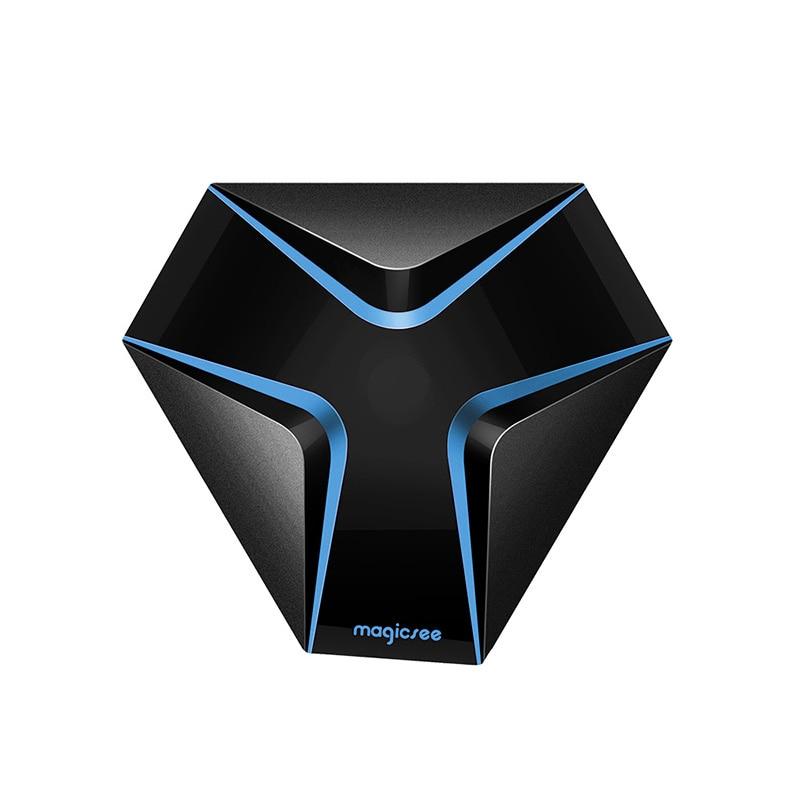 Magicsee fer Android 7.1 Wifi TV Box Amlogic S905X Quad Core 2G + 16G Smart TV Box avec HD 4K décodeur prise ue