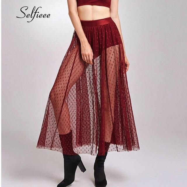 Mejor 2019 nueva falda de mujer moda estirada una línea Midi