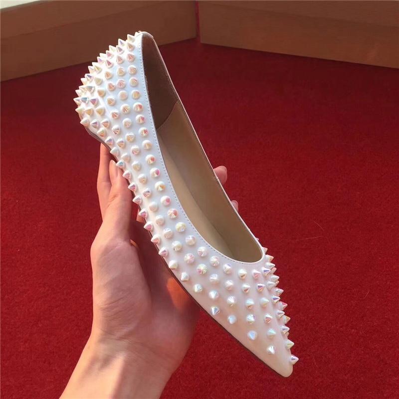 Sur 34 Femmes 2018 Les As Chaussures De Show Parti Rivets Stueded Mocassins Appartements 41 Sexy Slip Sandalias Bout Mariage Show as Pointu Mujer Piste qU8wxxTzE