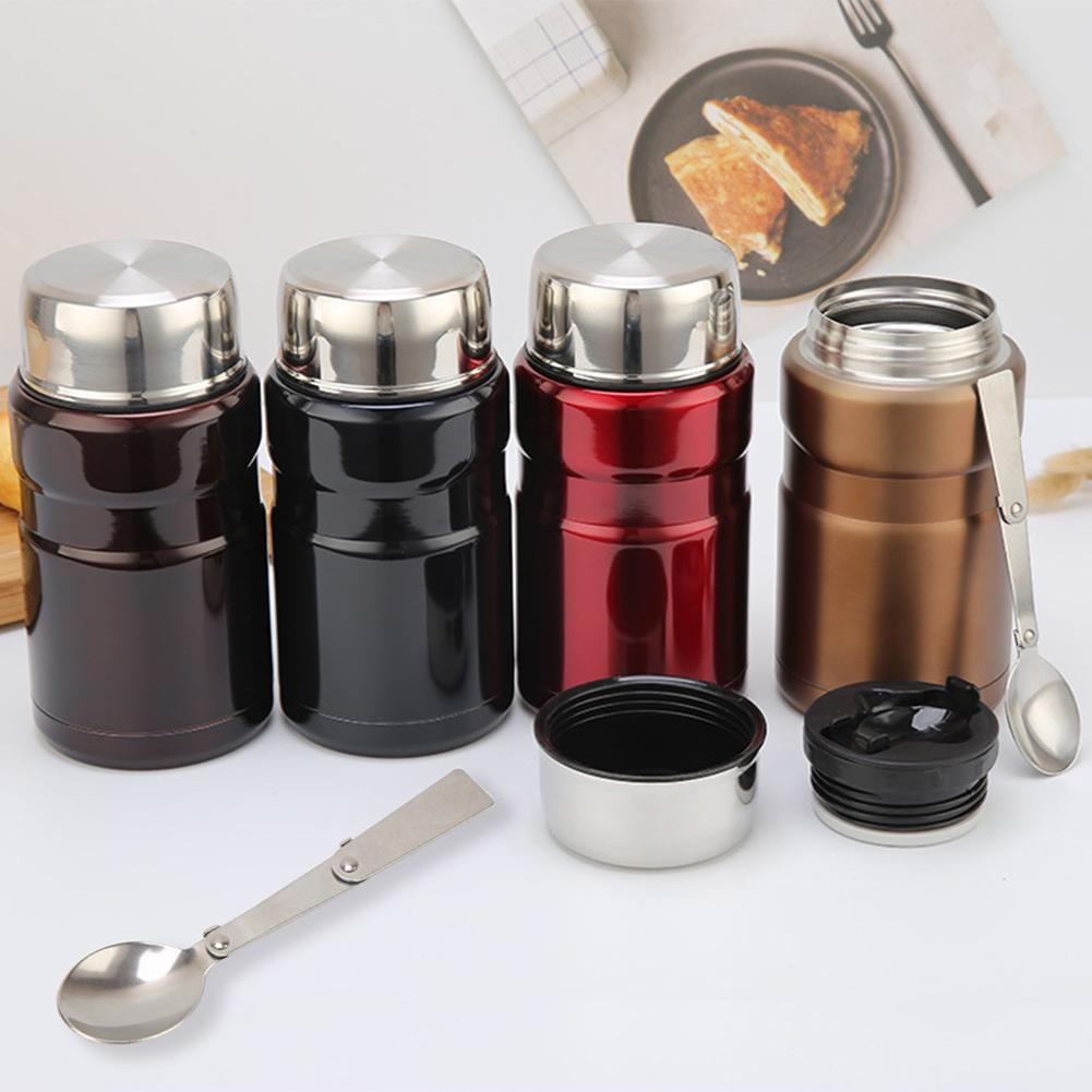 Portable 710ml Thermal Stainless Steel Vacuum Bottle Insulation Winter Soup Cup