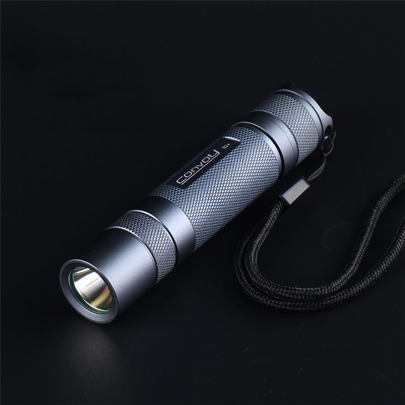 Convoy S2+ SST20 Gray 4000k LED Flashlight 18650 Aluminum Alloy Flashlight Camping Light Hunting  Portable Emergency Lantern