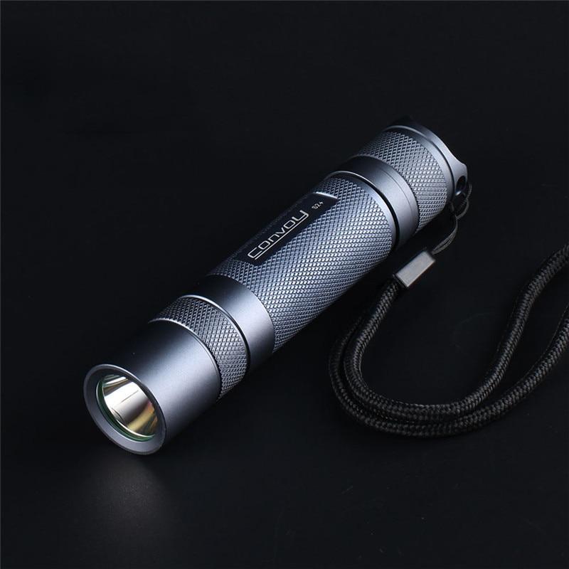 Convoy S2+ SST20 Gray 4000k LED Flashlight 18650 Aluminum Alloy Flashlight Camping Light Hunting  Portable Emergency Lantern