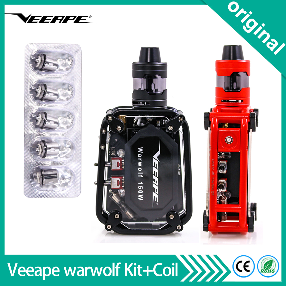 Original Veeape warwolf 150w Vape Kit With 5pcs 0 3ohm coil head 3500mAh Battery Laser Box