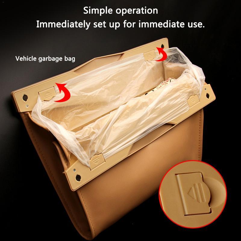 2292080c96f9 Горячая Распродажа 1 шт. автомобиля сумка для хранения автомобиля мусорный  мешок оснастки крепеж сиденья Сумки