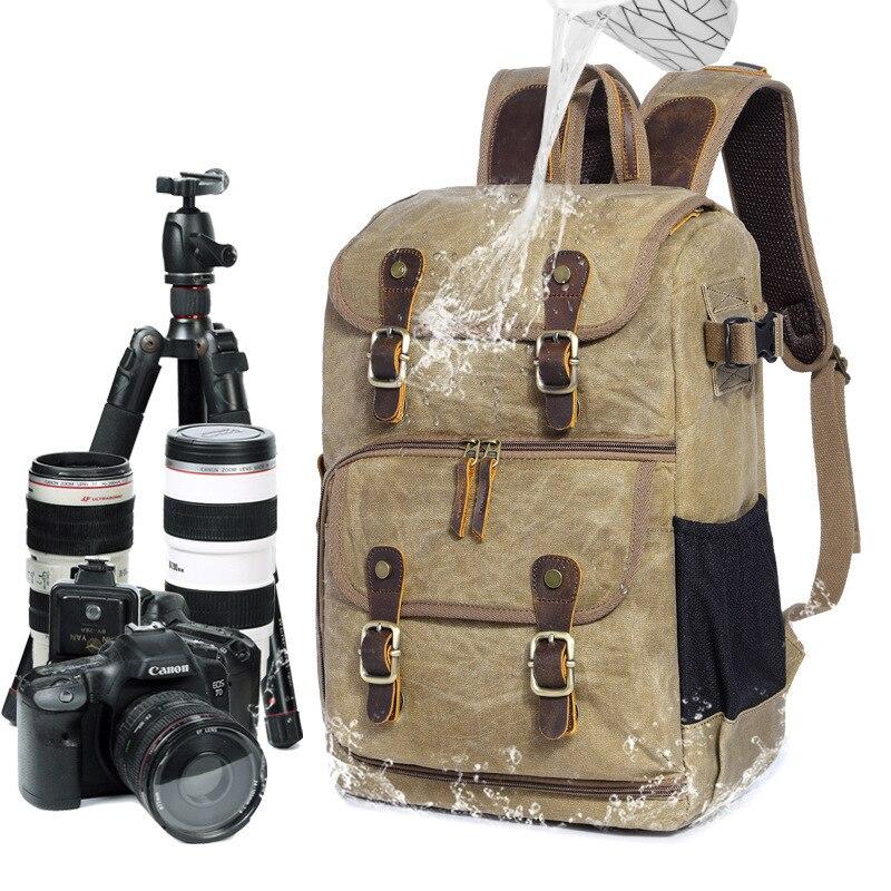 Large Capacity Batik Canvas Outdoor Backpack Waterproof Photography Knapsack Vintage Leisure Travel Rucksack For Nikon Canon batik batik зимний комплект маруся 350 200гр сиреневый