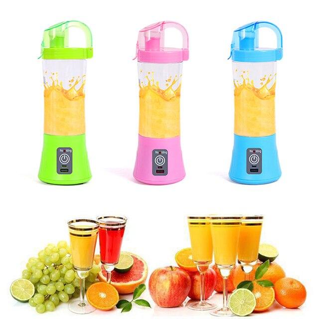 Nova Garrafa de 380 ML Portátil Elétrica juicer Blender Milkshake de Comida para Bebé Moedor de Carne Misturador Multifuncional Suco de Fruta Máquina do Fabricante