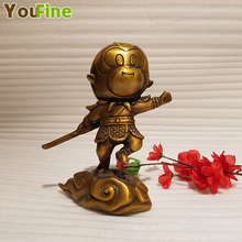 Chinese mythology bronze Sun Wukong statue Buddhism Journey to the Monkey Wu car decoration home