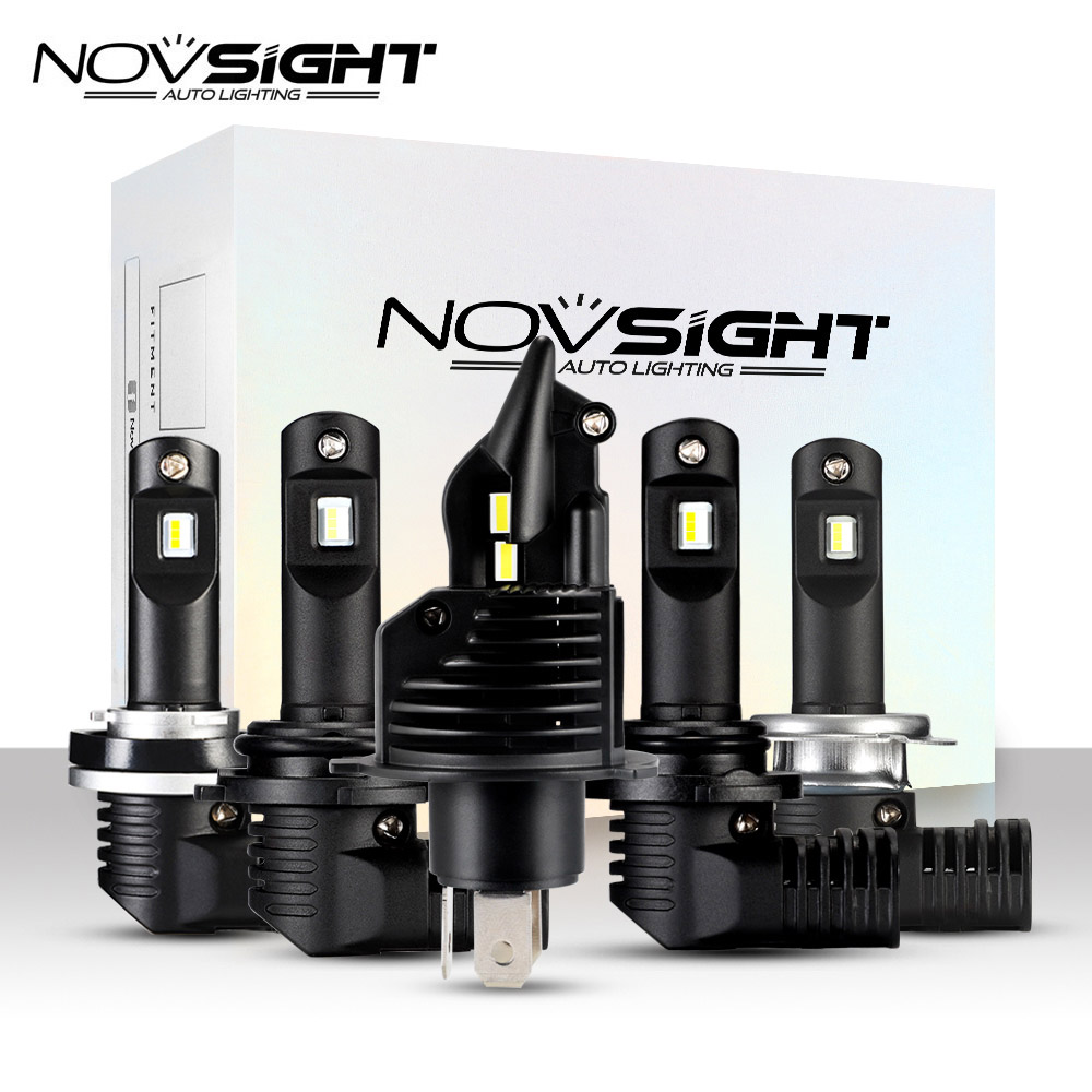 NOVSIGHT Turbo LED H4 Hi Lo Beam 50W 10000LM 6500K Headlight H7 H11 9005 HB3 9006