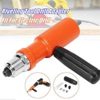 High Quality Electric Insert Rivet Nut Gun Pop Riveting Drill Tool Cordless Adaptor Nozzle Riveted Pneumatic Blind Rivet Adapter
