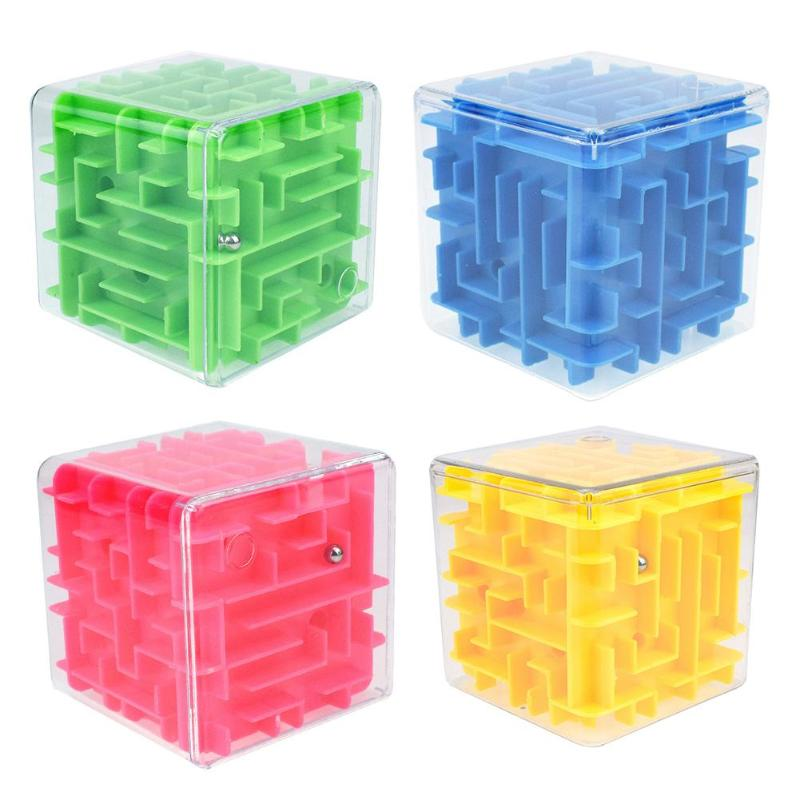 3D Cube Puzzle Maze Toy Hand Game Case Box Fun Brain GameDecompression Educational Toys Balance Educational Toys for children