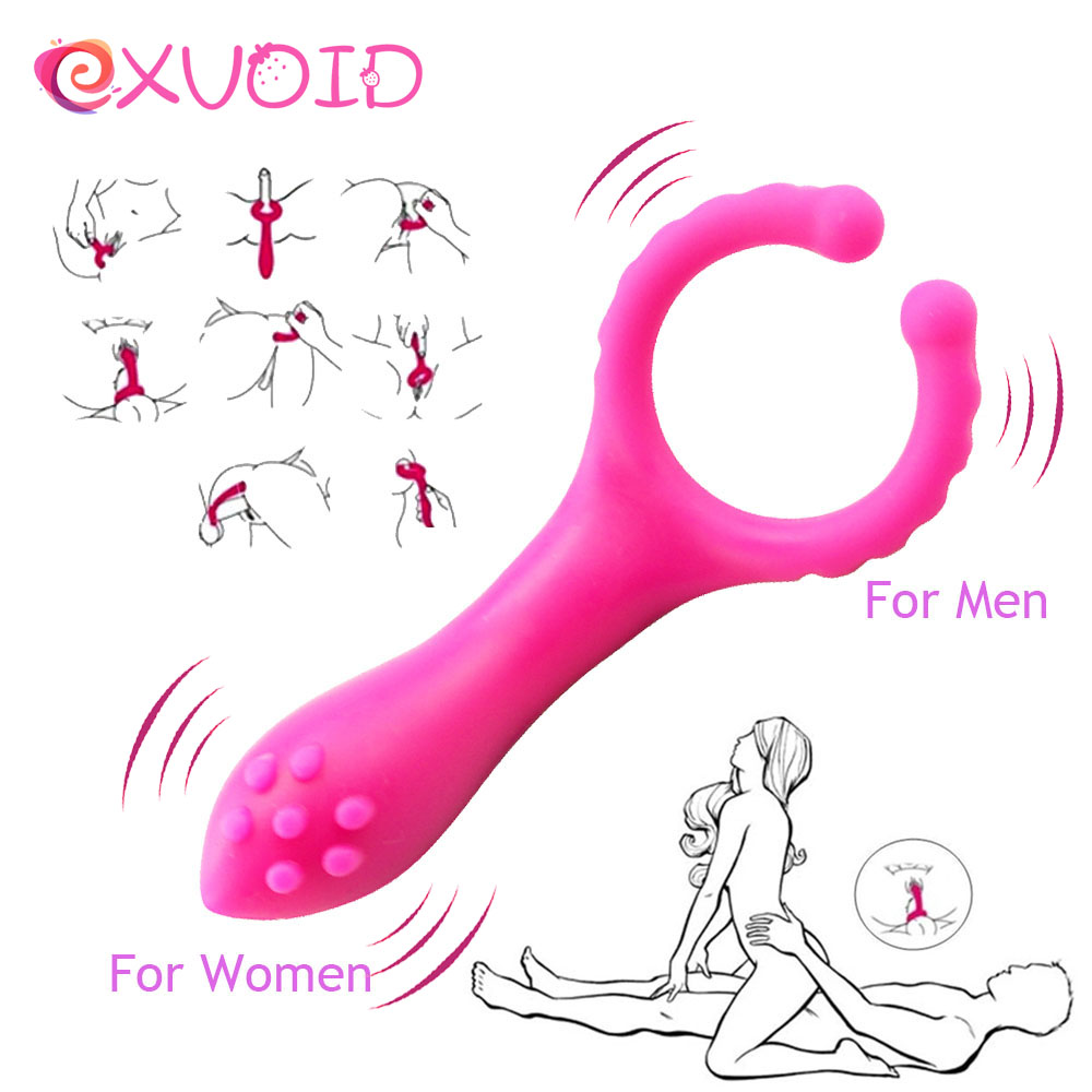 EXVOID Penis Vibration Clip <font><b>Vibrator</b></font> <font><b>Sex</b></font> <font><b>Toy</b></font> For Women Men Couple Flirting Nipple <font><b>Massage</b></font> <font><b>G</b></font>-<font><b>spot</b></font> <font><b>Vagina</b></font> Clitoris Stimulation image
