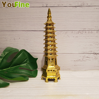Bronze pure copper Wenchang tower decoration nine story thirteen story tower office desk student office decoration