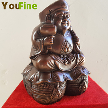 YOUFINE Bronze figure sculpture, creative Buddha ornament, ornaments, black and white, can support custom