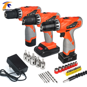 цена на Cordless Electric Drill Screwdriver 25v 21v Power Tools Lithium Battery Cordless Drill Rechargeable Household Torque 2-Speed