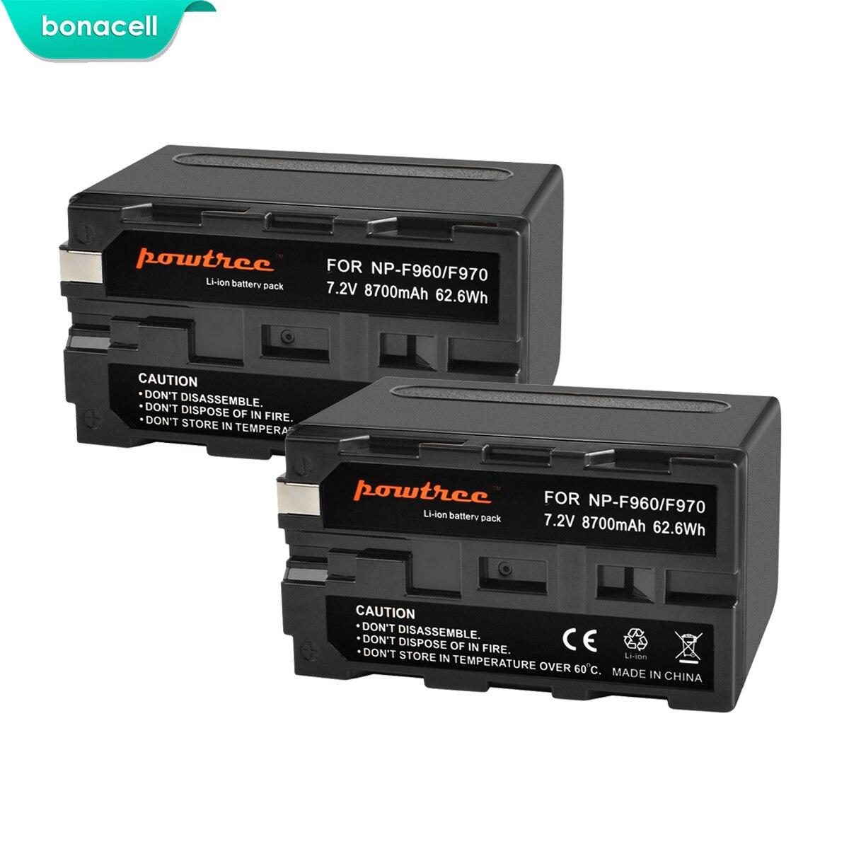 7.2 v 8700 mah NP-F960 Bonacell NP-F970 F960 F970 F950 Bateria Para Sony NP PLM-100 CCD-TRV35 MVC-FD91 MC1500C L10