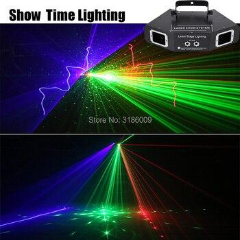 Showtime DMX 4 Lens RGB Red Green Blue Beam Pattern Network Laser Light Home PRO DJ Show KTV Scanner Club Stage Lighting A-X4 очки nike optics show x1 r matte black turbo green grey sky blue flash lens