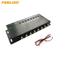 FEELDO 4Pcs Auto/Car 1 to 8 Output Video Amplifier Signal Booster for DVD/LCD/TV #MX1322