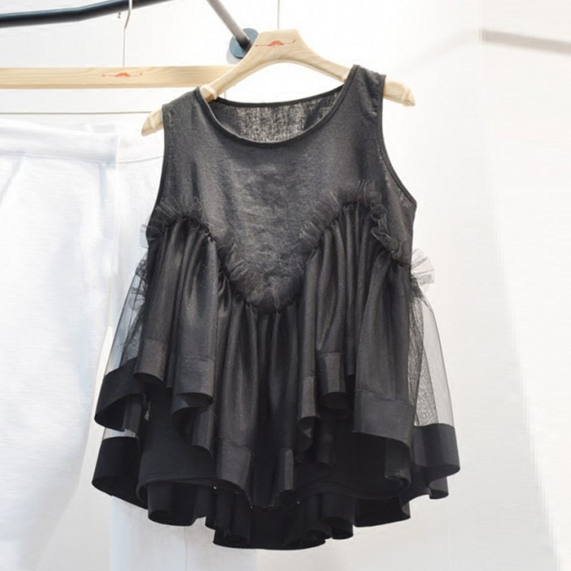 SuperAen New 2019 Spring and Summer Ladies Tank Tops Cotton Wild Solid Color Sleeveless Tank Tops Female Korean Style Tops