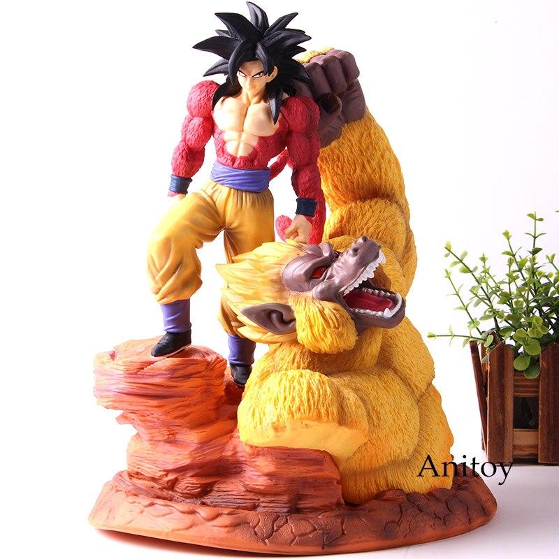 Dragon Ball Super Saiyan 4 Super étoiles Son Goku Gokou figurine Action or grands singes scène Statue résine Collection modèle jouets