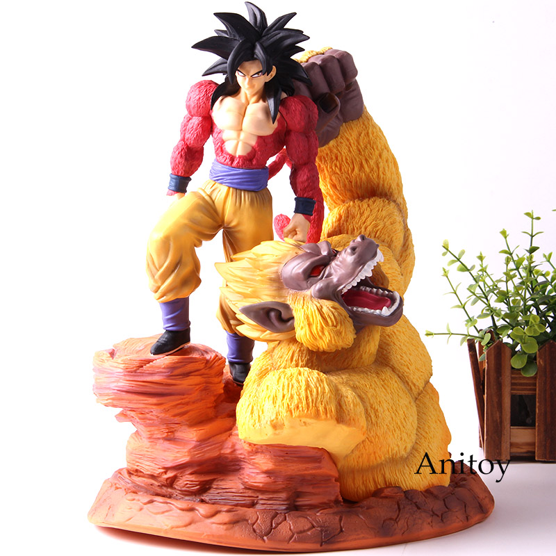 Dragon Ball Super Saiyan 4 Super Stars Son Goku Gokou Figure Action Gold Great Apes Scene Statue Resin Collection Model ToysDragon Ball Super Saiyan 4 Super Stars Son Goku Gokou Figure Action Gold Great Apes Scene Statue Resin Collection Model Toys