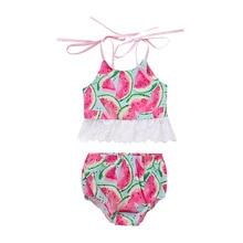 Baby Girl Swimsuit Watermelon Bathing Suits For Children Two Pieces Swimwear Beach Bikini Set Girls Biquini Infantil Suit P30 купальник для девочек maka baby biquini infantil tankini q63907 bikini