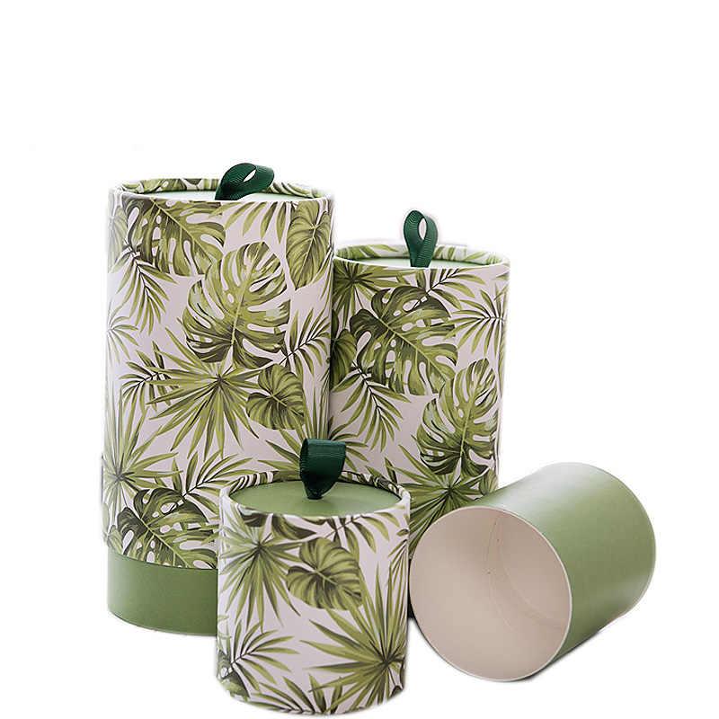 Xin Jia Yi Verpackung Papier Rohr Lia Balsam Weiß Pappe Runde Form Papier Boxen Hochzeit Geschenk Blume Papier Boxen Mit griff