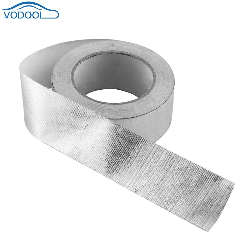 4.8cmx5m Foil Heat Insulating Tape High Temperature Adhesive Reflective Shield Wrap Tape For Car Truck Motorcycle