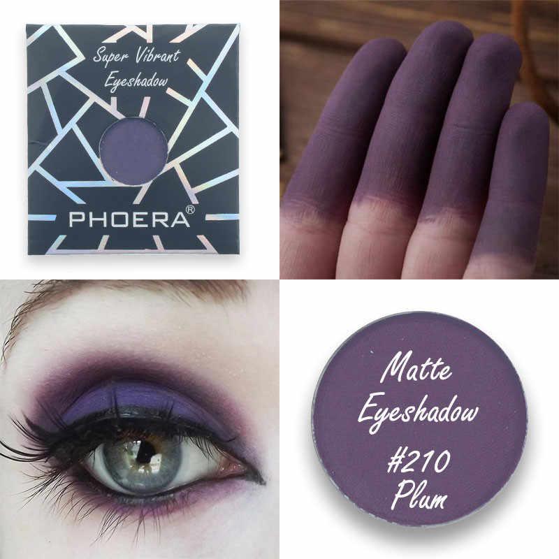 PHOERA 12สีMatte Eye Shadow Monochromeมินิกันน้ำPaletteอายแชโดว์แต่งหน้าBeauty Cosmetic Maquillage TSLM1