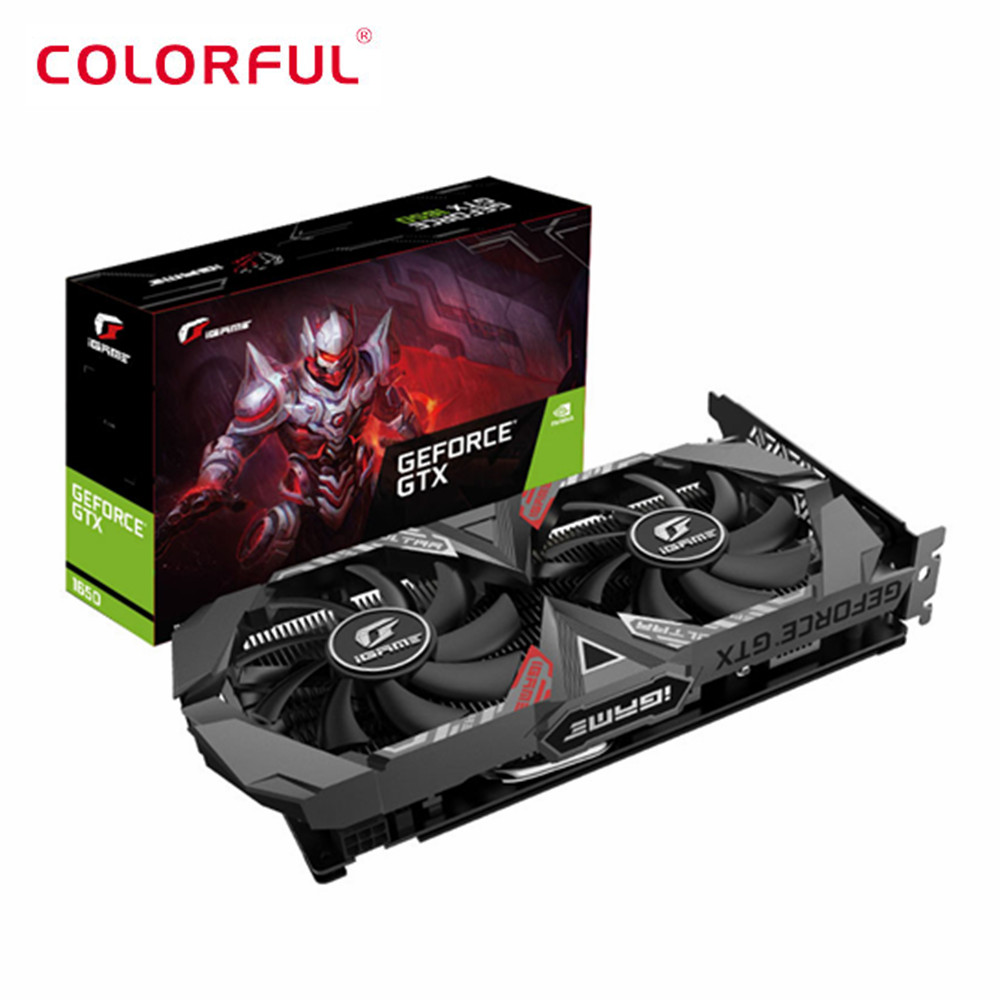 Colorful iGame GeForce GTX 1650 Ultra 4G Nvidia Graphics Card 1485MHz GDDR5 4GB CUDA Cores 896 DP HDMI DVI Graphics Card